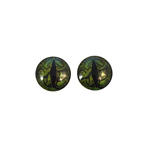 Dark Green Medusa Snake Glass Eyes Scary Halloween