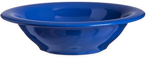 Carlisle 4303614 Durus Rimmed Melamine Bowl, 13 Oz., Ocean Blue (Pack of 24)