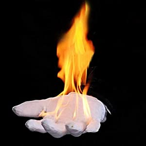 Enjoyer Fire Gloves Magic Tricks Burning Gloves Empty-Handed On Fire Close Up Magic Props for Stage Magician