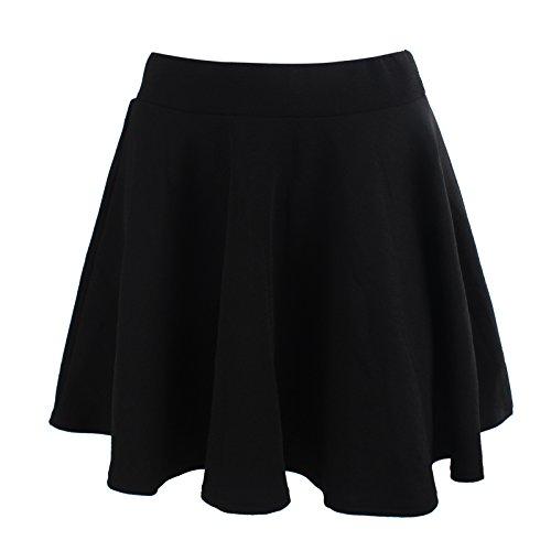 black dress a line skirt - 2