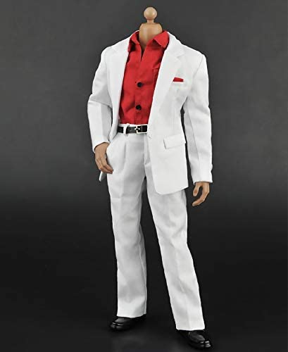 """1//6th White doctor clothes coat pants For 12/"""" Male Phicen UD HT Figure Doll"""