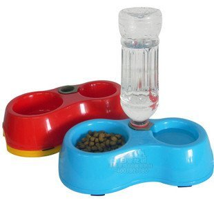Yosoo Dual Port Pet Dog Cat Bowl Automatic Water Dispenser Feeder