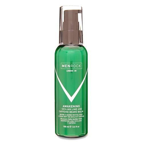 Men Rock Sicilian Lime Beard Soap – Awakening Scented Beard Shampoo with Caffeine to Kickstart Your Day – 2-in-1 Beard Soap and Beard Moisturizer for Men - 3.38.fl.oz / 250 ml