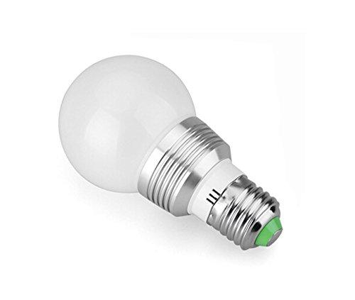 Lennystone® Neueste 5W RGB LED Lampen E27 Led Light Blubs Geführte Glühlampen Bunte Ändern Hohe Helligkeit Scheinwerfer mit einem Fern Dekorative Beleuchtung,AC85-265V (5W E27 1Pcs)