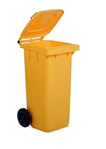 VECA VENETA spa Bidone immondizia professionale 120 con ruote colore giallo veca