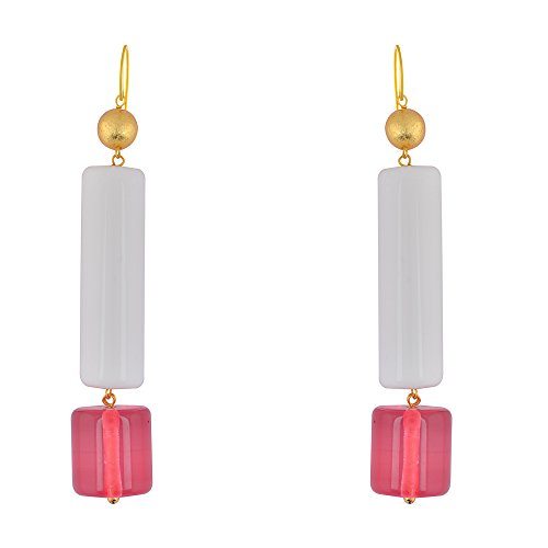 Shaze Gold Colored Morning Mist Earrings for Women by shaze