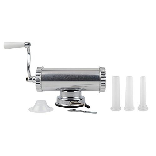 Homemade Sausage Making Kit Includes Sausage Meat Stuffer / Maker With 3 Filling Nozzles (2 lbs Capactity)