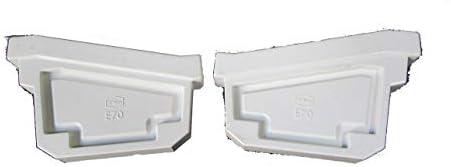 E70 止まり(右と左セット) 止り ホワイト エスロン雨樋 GF46とGF47