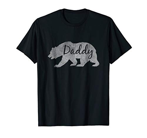 Daddy Bear Vintage Grandfather Dad Gift Fathers Day T-Shirt