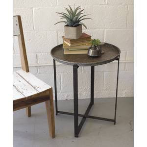 Round Metal Retail Display Table w/ Folding Base by Retail Resource