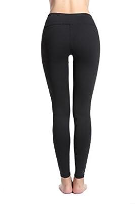 Lotsyle Women's Mesh Panels Stretchy Running Leggings Gym Workout Fitness Yoga Pants