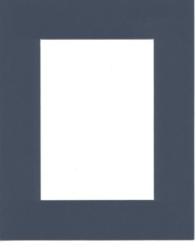 18x24 Baltic Blue Picture Mat Bevel Cut for 13x19 Photo or (Blue Picture Mats Matting)