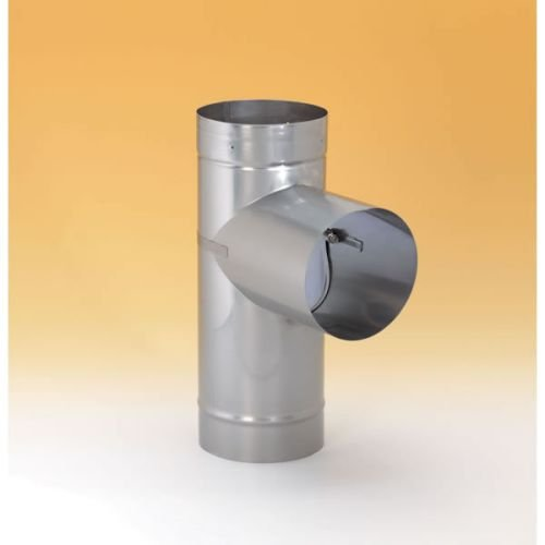 Heat Tee Fab (Chimney Savers 21675 Heat-Fab Rigid Chimney Savers Liner -304-SS - 6 Inch Tee With Removable Take Off)