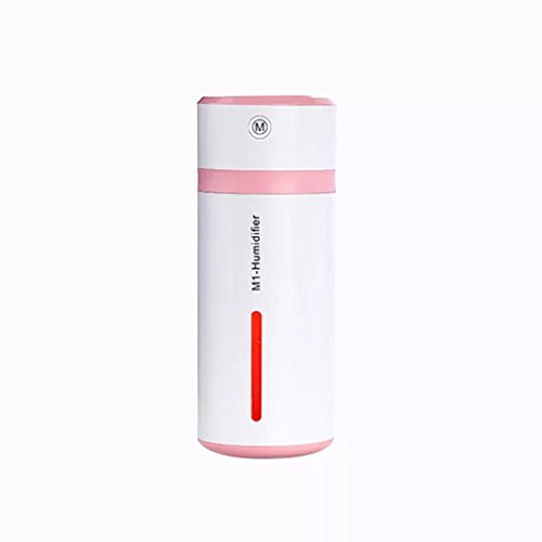 GreatFun Lamp Humidifier M1-Cup LED Humidifier Air Diffuser Purifier Atomizer (Pink) - Lamp Brewers