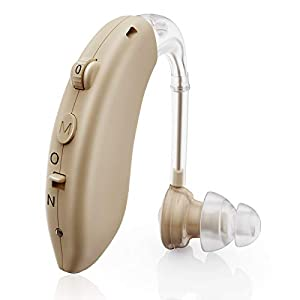 Hearing Aid for Seniors Rechargeable with Noise Cancelling, Digital Hearing Amplifier for Adults for Hearing Loss, Sound…