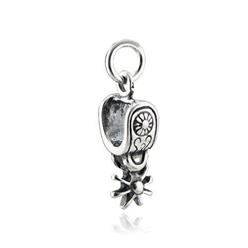 Western Spur Charm - 925 Sterling Silver - Horseback Riding Equestrian Boots - Jewelry Accessories Key Chain Bracelets Crafting Bracelet Necklace Pendants