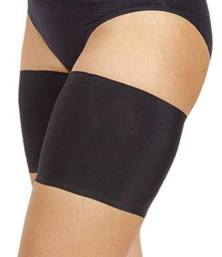 Bandelettes Elastic Anti-Chafing Thigh Bands - Prevent Thigh Chafing - Black Unisex, Size D ()