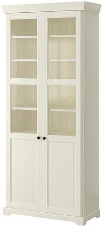 Ikea estantería con Puertas de Cristal, Blanco 4202.82623 ...