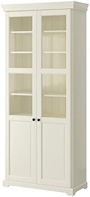 quality design 42425 f6940 Amazon.com : IKEA Bookcase with Glass Doors, White ...