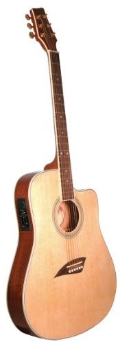Kona K2 Acoustic Electric Dreadnought Cutaway Guitar in Natu