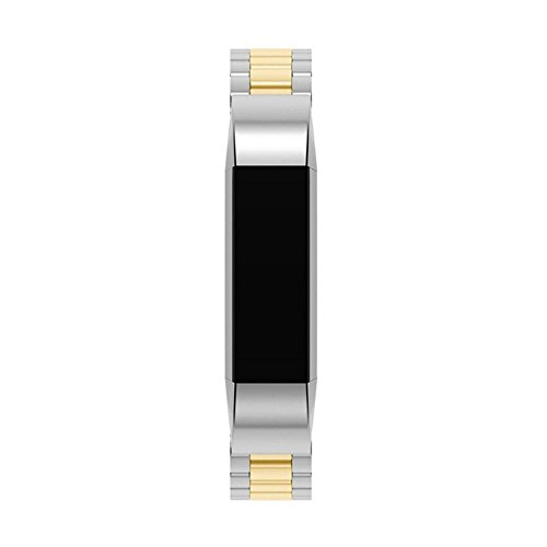 Pumsun ⭐️ Stainless Steel Replacement Metal Wristband Watch Band Strap for Fitbit ACE (Gold) by Pumsun_Watch (Image #3)