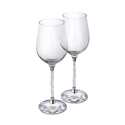 37b8f72af13 New Exclusive Swarovski Crystal Filled Stem WINE Glasses (Pair)☆MOST  PERFECT GIFT FOR WEDDING