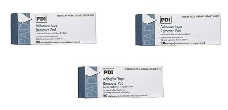 1131957 PT# B16400 Pad Adhesive Tape Remover 100 Count 1-1/4x2-5/8