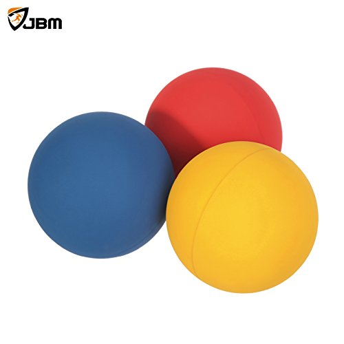 JBM Racquetball Squash 5.5cm / 2.17 Rubber 1 Red 1 Blue 1 Orange Balls in a Net 65-70% Rebound Rate Highly Visible for Racquetball Game Practice Training