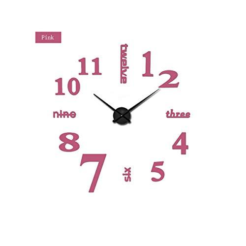 yuan kun New Super Big DIY Wall Clock Acrylic Metal Mirror Super Digital Watches Decorate