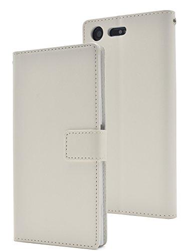 服を洗う異形無人PLATA Xperia XZ Premium SO-04J ケース 手帳型 カラー レザー スタンド ポーチ 手帳 カバー 【 ホワイト 白 しろ シロ white 】 DSO04J-77WH