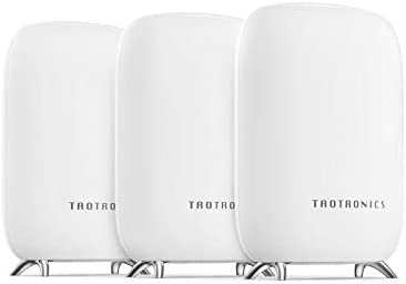 TaoTronics Mesh WiFi System, Tri-Band AC3000 3Gbps Speed 6,000 Sq. Ft Coverage Whole Home WiFi Router/Extender Replacement, 4 Gigabit Ethernet & 1 USB 3.0 Ports, Connection of as much as 200 Devices-3 Pack