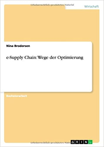 Book e-Supply Chain: Wege der Optimierung
