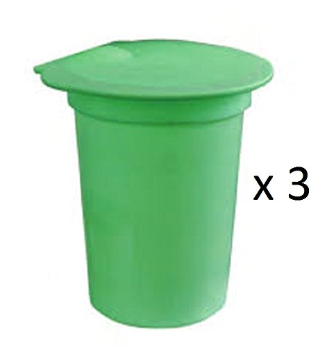 3-PACK Plastic Sap Buckets with Lids - For making Maple Syrup