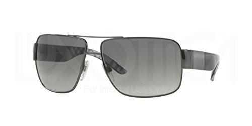 Burberry Mens BE3040 Gunmetal/Grey Sunglasses 61mm