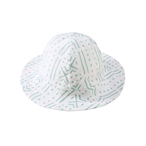 (pureborn Baby 100% Cotton Bucket Hat Infant Boys Girls Summer Sun Protection Cap Geometric Pattern Green 12-18 Months)