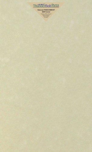 100 Natural Parchment 65lb Cover Paper Sheets 8.5X14 Inches Cardstock Weight Colored Sheets 8.5