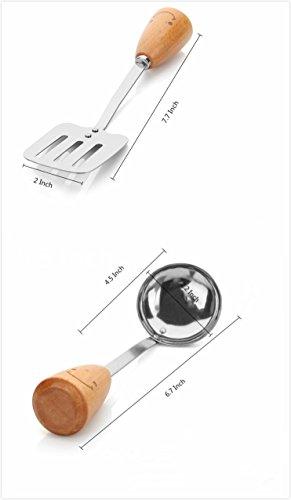 Kitchen Utensil Set - Swivel Peeler, Whisk, Skimmer, Bottle Opener, Serving Spoon, Pizza Cutter, Slotted Turner, Grater, Egg Separator, Toothpick Holder, Spoon, Fork (12 Piece) by MSXMS (Image #1)'
