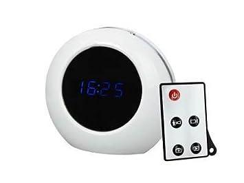Ixium M8 blanco DVR Spy cámara con diseño de reloj de Audio y vídeo foto señal de circuito ...