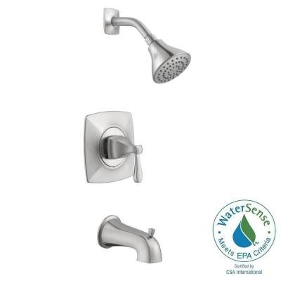 Milner Pressure Balanced Single-Handle 1-Spray Tub and Shower Faucet in Brushed Nickel (Pegasus Roman Tub Faucet Parts compare prices)