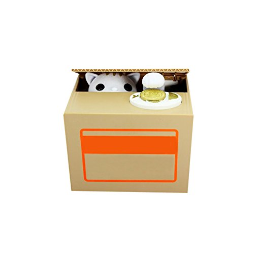 Creative Saving Box Power-driven Saving Box Cat Able To Steal Money