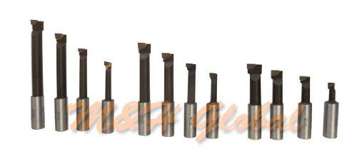 12 Pc 3//4 Shank Bore C6 Carbide Tip Boring Bar Set