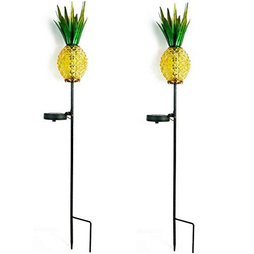 - Solar Lighted Pineapple Garden Stake,Outdoor Solar Pathway Lights Waterproof Solar Landscape Lights for Garden, Path, Yard, Patio, Driveway, Walkway, Lawn-2Pack