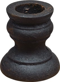 Aged Turned Wood Black Wax Paint Candle Cup Taper Holder Country Primitive Décor