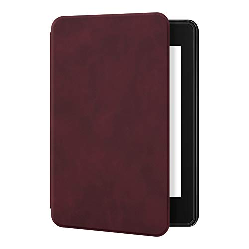 Ayotu Skin Touch Feeling Case for Kindle Paperwhite 2018-Durable Soft Artificial Leather Cover with Auto Wake/Sleep-Fits Amazon The Latest Kindle Paperwhite Case (10th Generation-2018),K10 Red Wine