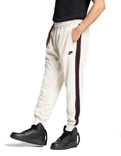 Nike Sportswear Mens Joggers Light Cream/Night Maroon/White AR2255-272 (Large)