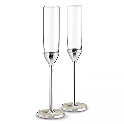 Vera Wang by Wedgwood - Silver Plated With Love Nouveau Toasting Flute Pearl (Set Of 2)