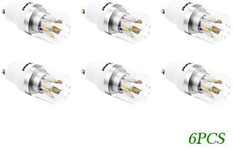 YangR* 6PCS-GU10 4W 10xSMD 5730 280LM 2500-3500K LED blanco cálido bombillas de maíz (85-265 V CA)