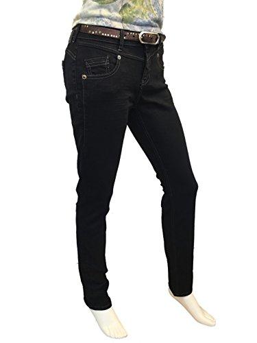 Black Jeans Zip Truth Att schwarz amp; Amor Trust Donna qU0An7v6w