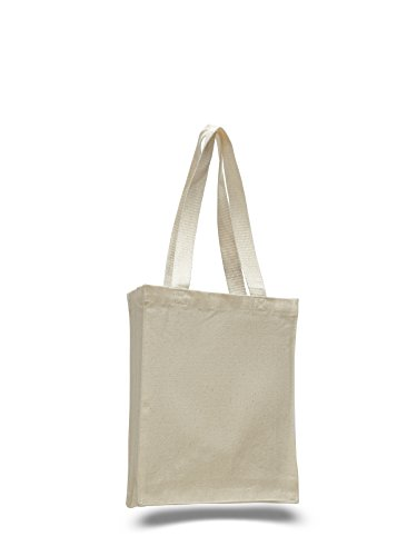 Price comparison product image Heavy Duty Canvas Tote Bag,  Perfect for Ipad,  Books,  Bible Set of 6 (Natural)