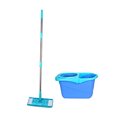 (LIZHIQIANG Flat Easy To Clean Dazzle Drag Rotating Mop To Double Driving Hand Pressure Mop Bucket Flat Mop Good God Mop Mop Cloth )